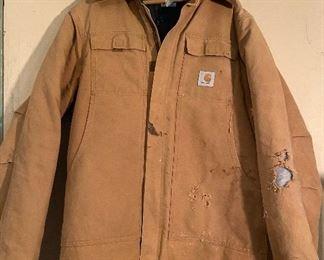Carhartt Coat size 42 Tall, Zipper works, shows wear - $20