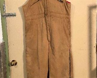 "Vintage ""1980's"" Key Overalls, shows wear zippers works, size Large Regular - $30"