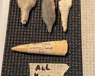 Indian Artifacts - Points, Tools, Primitive Antler - $25