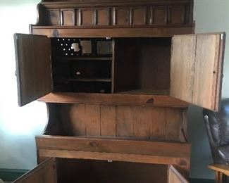 Hand - Made 1963 Vintage Pine Hutch Interior, $375