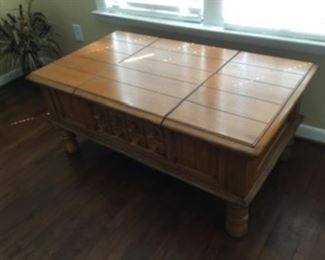 """10.  Cocktail Table  48""""L x 28""""W x 20""""H      $150"""