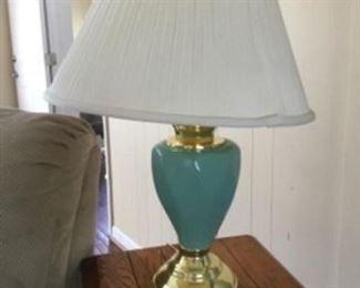 """9.  Pair of Lamps  26""""H             $40"""