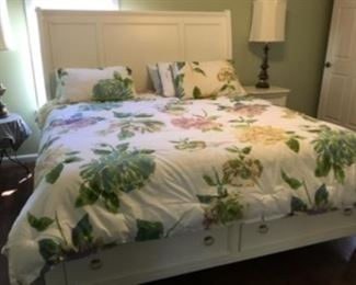 """1.  King size bed & Headboard & Mattress  63""""H x 83""""W   $495"""