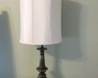 """4.  Pair of Metal Lamps   42""""H     $45"""