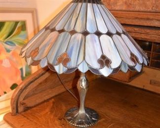 "$150 Tiffany Style Table Lamp  20""W x 21""H"