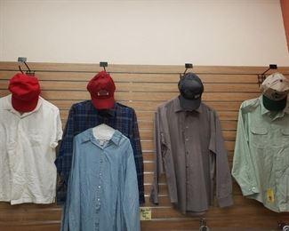 Men's Size Large Shirts-$4 Each Caps-$3-$4 each