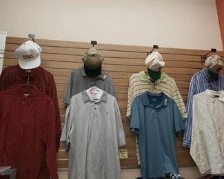 Men's Size Large-$4 each Caps-$3 each
