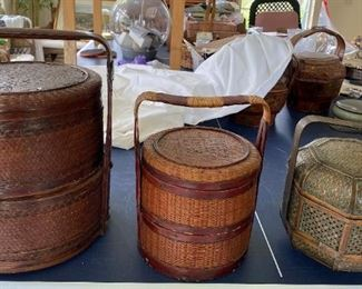 Item  # 11 is $85, #12 is $68 , #13 is 68:   Oriental Wedding  Baskets