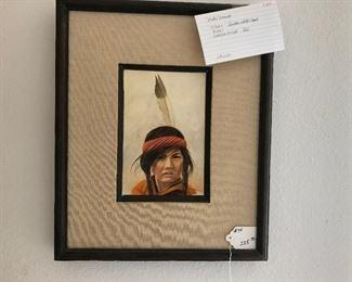 "Item # 75 $325. ""Indian Child Head"" Mike Marsh"