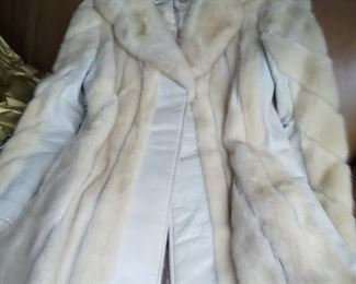 *Discounted* Fir And Leather Coat SZ Med. $65 NOW $45