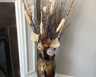 . . . a beautiful nature arrangement in a  large vase