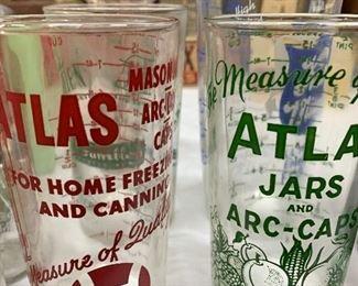 Vintage Atlas drinking glasses