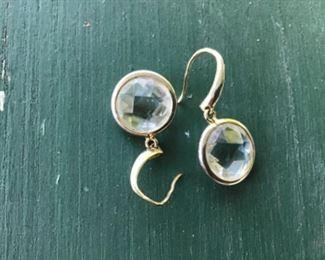 Sterling and cut crystal earrings $15