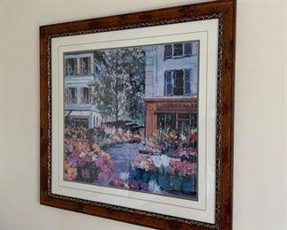 French Flower Shop Framed Print $135