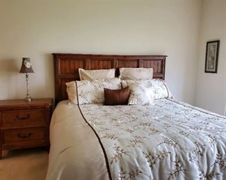 Thomasville King Bedroom Set.  Includes King Bed, Dresser, Night Stand  $1,350.  King Bed separately -- $650