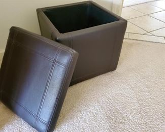 """Great Storage Stool.  14.5"""" x 14.5"""".  $30 or best offer"""