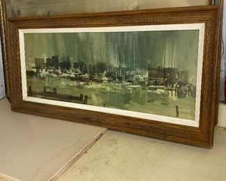 """Gorgeous watercolor -large – 32"""" x 18"""" $90  Look at them before you pay- be happy with what you're buying"""