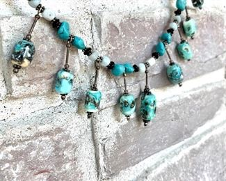 """Authentic turquoise necklace. 8"""". $28"""