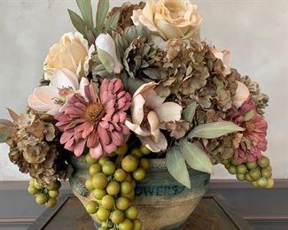 """Custom dried floral. 18"""" H x 18"""" W. $40"""
