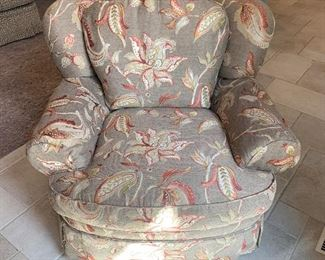 PAIR of custom club chairs. $800/both. Excellent condition. Custom upholstery is gorgeous - base color leans more grey than beige. More pics of these together on the on way!
