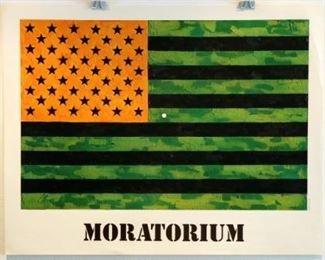 "Jasper Johns Johns_0037 (4 objects) Moratorium 1969 20.5 x 26.0 "" Lithograph"