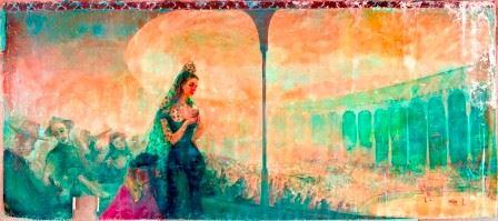 """Franz Kline,  105.762.822,  El Chico's mural #1 , 1945 , 69.0 x 156.0 """""""