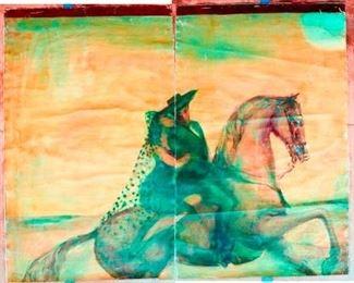 """Franz Kline,  106.040.676,  El Chico's mural #2,  1945 , 69.0 x 87.0 """""""