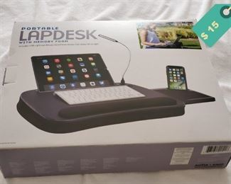LapDesk with light for working with mobile devices comfortably