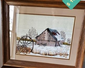 """Picture - Barn (23"""" W x 19"""" H)"""