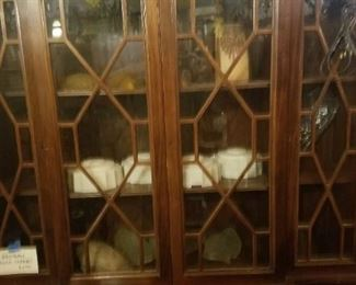 Antique Mahogany China Cabinet 74 by 47; was $550 now $300
