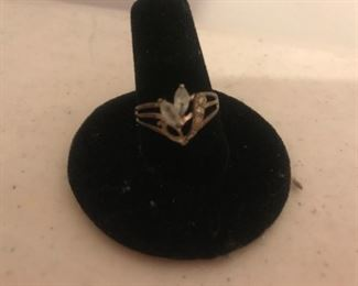 Sterling Silver Ring, missing one stone $15