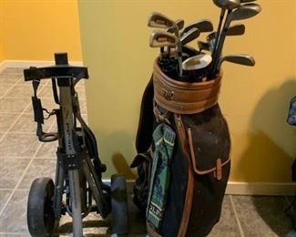 REDUCED!!!  NOW $30.00 was $75.00......Bomber Stealth Irons Men's Golf Clubs with Bag and Bag Caddy