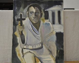 Modernist man with cross,  $45.00