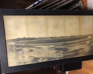 original large historic framed photo Bronx Jerome racetrack