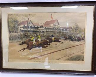 Currier & Ilves Brooklyn Sheepshead Bay Race Track 1888