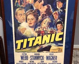 original 1951 Titanic 1 sheet movie poster