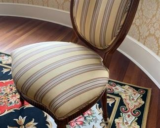 6. 12 Chairs, 10 Side & 2 Arm Upholstered Dining Room Chairs,  $ 4,500.00
