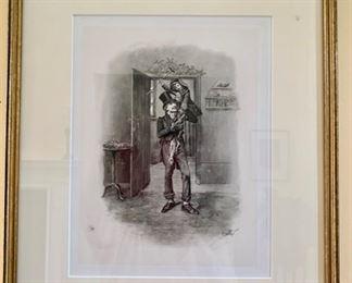 185. Set of 4 Charles Dickens Etchings,  $ 800.00