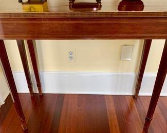 16. Flip Top Inlayed Vintage Table (36'' x 17'' x 30''), $ 1,100.00
