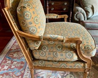 34. Fauteuel Upholstered Chair (28'' x 27'' x 36''),  $ 900.00