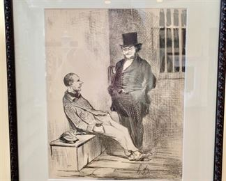 180. Print of Two Men, One in a Tophat,  $ 600.00