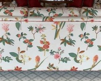 43. Pair of 3 Cushion Floral Upholstered Sofas (88'' x 36'' x 36''),   $ 2,200.00 ea.