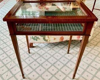 42. Antique Inlayed Display Case (24'' x 18'' x 28.5''),  $ 900.00