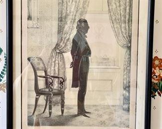 67. Pair of E.B. & E.C. Kellogg Framed Silhouette Prints of John Tyler & Daniel Webster (14'' x 19''),  $ 700.00