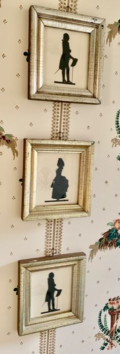 64. 3 Framed Silhouettes (7'' x 8''),  $ 90.00