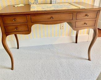 71. 5 Drawer Desk w/ Cabriole Legs (47'' x 24'' x 31''),  $ 480.00