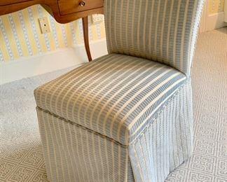 70. Upholstered Slipper Chair (18'' x 20'' x 33''),  $ 120.00