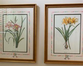 93. 3 Gilt Framed Botanicals (23'' x 30''),  $ 180.00