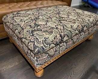 116. Upholstered Ottoman on Wood Base (49'' x 32'' x 18''),  $ 450.00