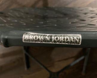 137. 8 Brown Jordan Side Chairs ,   $ 2,400
